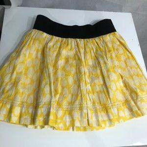 Guess yellow cotton mini-skirt, stretch band